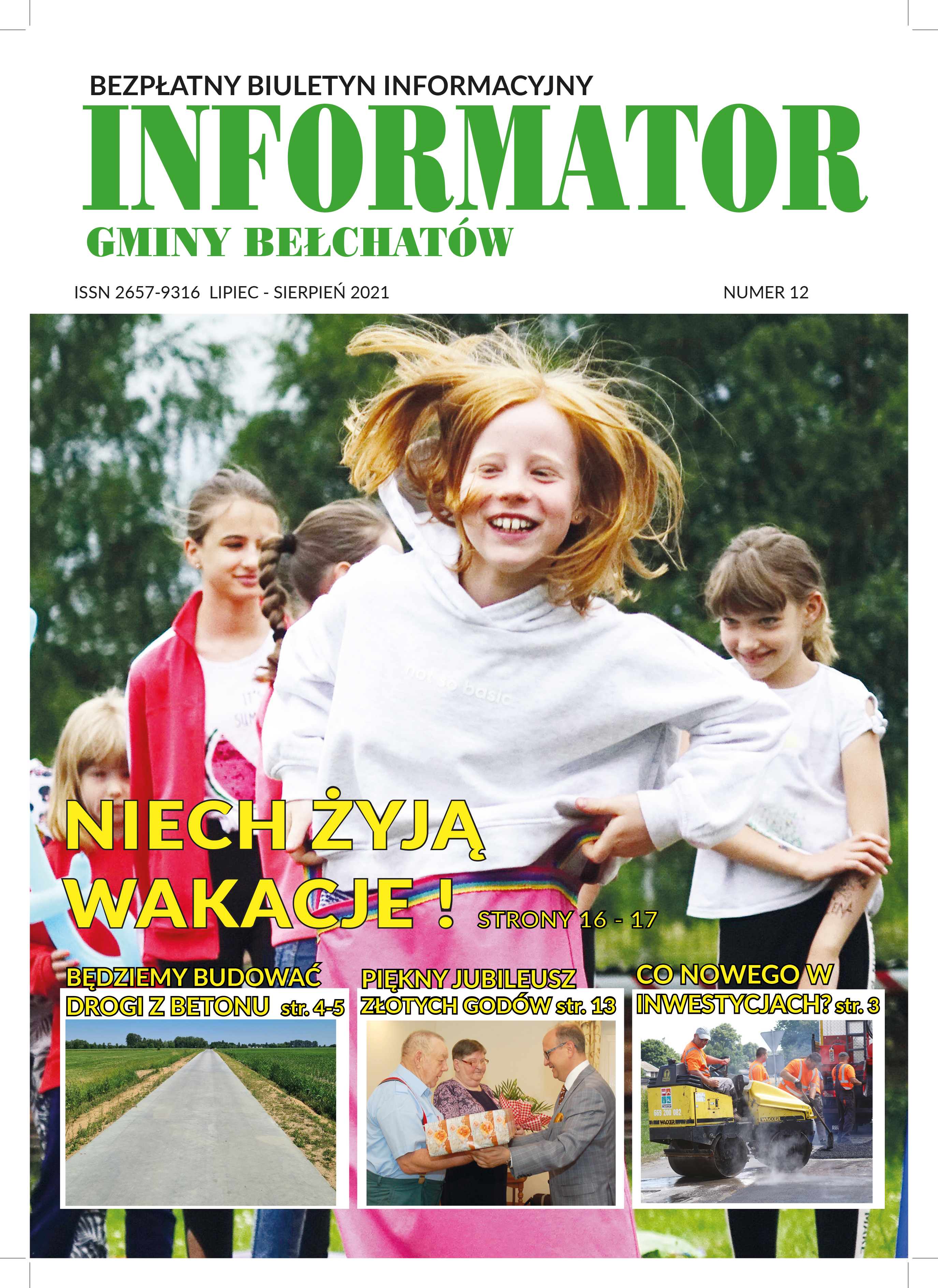Ilustracja do informacji: INFORMATOR GMINY BEŁCHATÓW NR 12